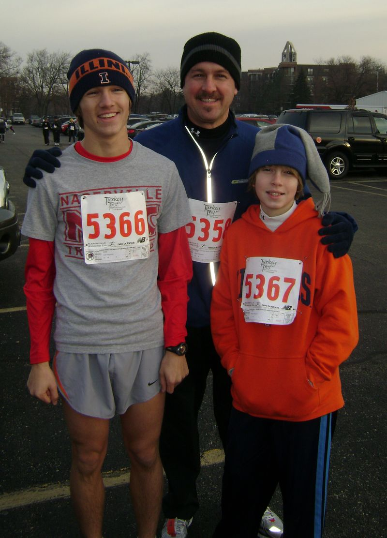 Dave, Josh & Caleb - 5k Turkey Trot 08